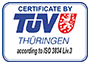 Image: Certificate by TUV ISO 3834 Liv.3 logo