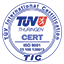 Image: Certificate by TUV ISO 9001 logo